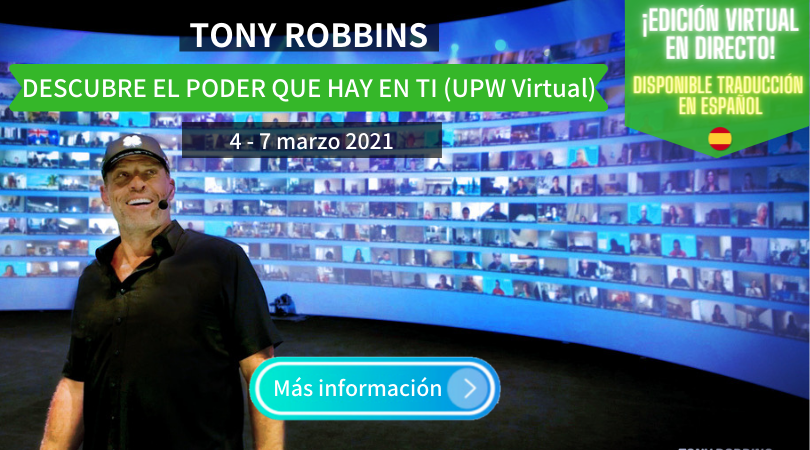 Tony Robbins virtual en español 2021