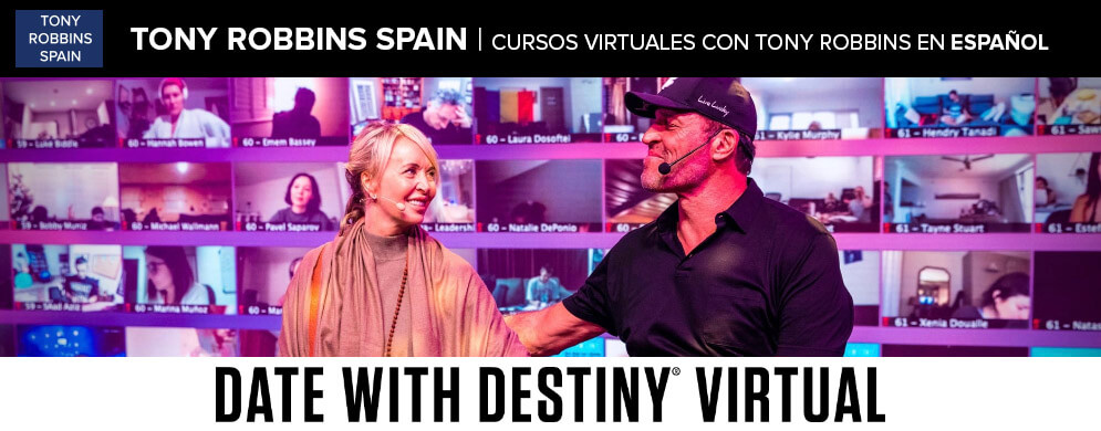 Tony Robbins curso virtual en español date with destiny